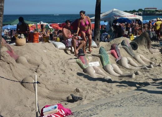 Sexy sand sculptures