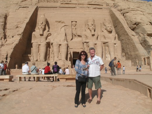 John and Marie at Abu Simbel