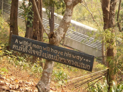 Interesting quote found along the way up to Doi Suthep, Chiang Mai.