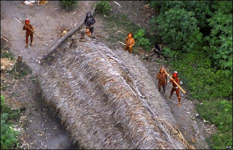 One of Brazil's uncontacted tribes in the Amazon jungle