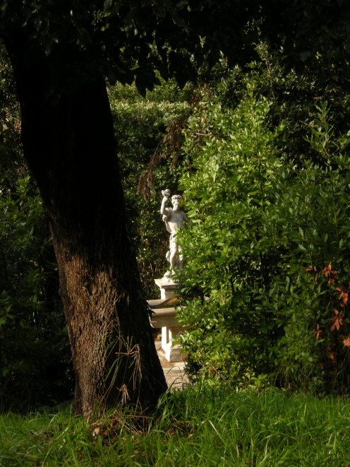 classical scenery of Boboli