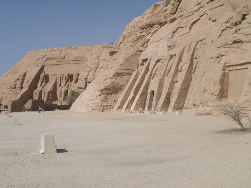 A view of the two temples at Abu Simbel