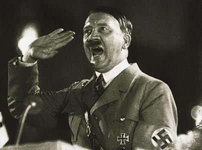 Hitler giving one of his infamous speeches