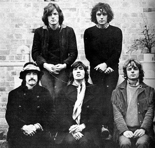 A shortly lived 5 men band Pink Floyd. Just before Syd Barrett departed.