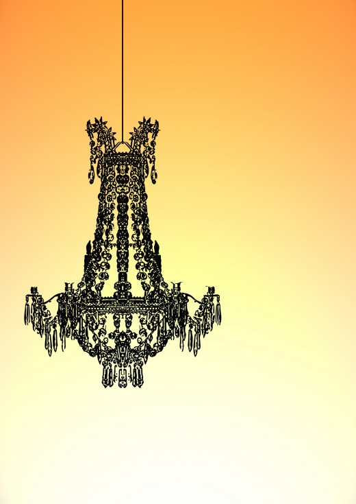 Black chandeliers look very sophisticated.