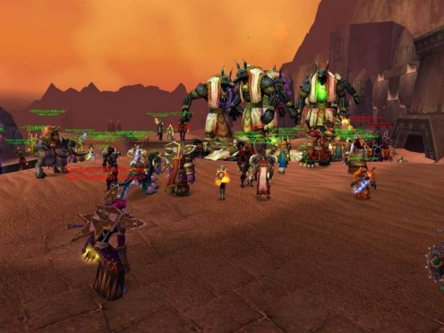 World of Warcraft is large and socially involved, without the instanced play that Guild Wars relies upon for non-subscription-based play. (Screenshot courtesy of GameSpot.com)