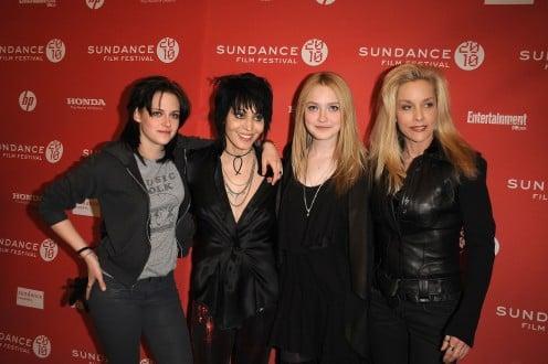Kristin Stewart, Joan Jett, Dakota Fanning and Cherie Currie