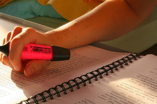 Highlighting makes it easy to have quick review.
