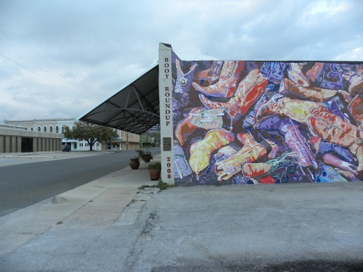 Mural created by Vision Downtown Lampasas TX VDL
