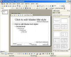 Centre Align the Slide Number in PowerPoint 2003