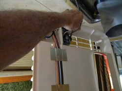 Connecting electrical wiring to new ceiling assembly