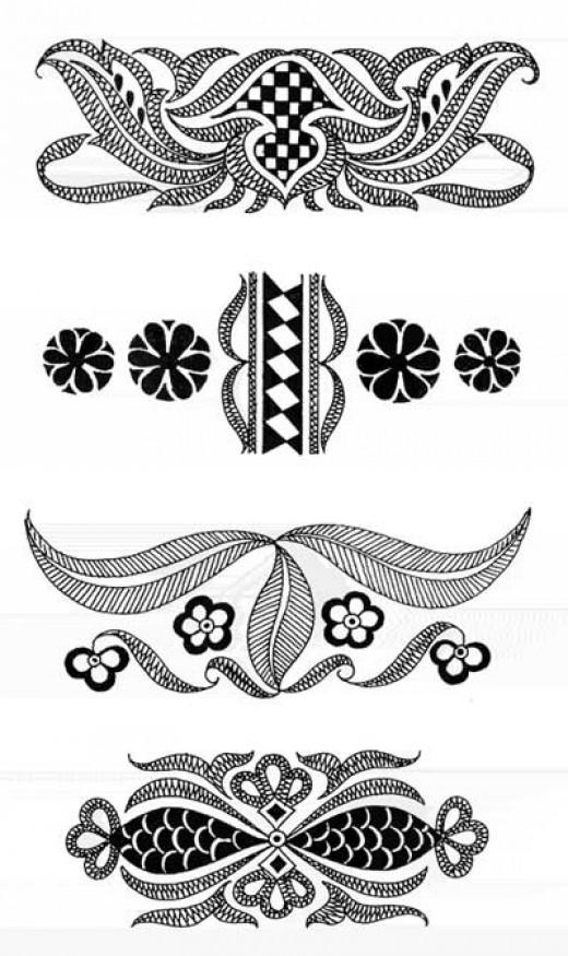 bridal mehndi patterns