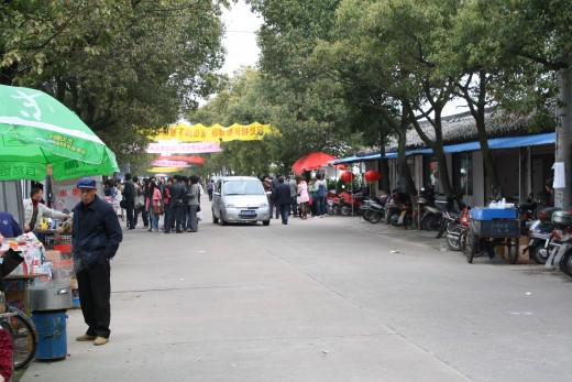 The street markets at the entrance
