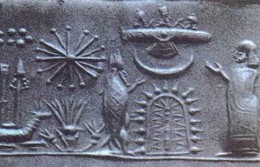 Ancient depiction of spaceship