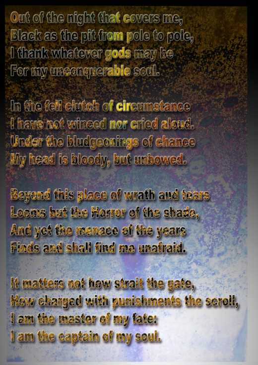 Invictus-A powerful poem by English poet, William Ernest Henley(1849-1903)