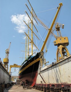 Working in a Greek ship