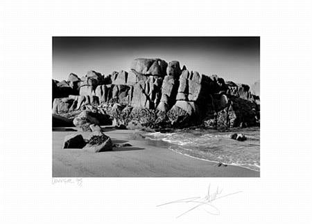 Rock formations on a Donegal beach, Ireland, 1995.