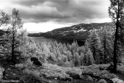Donner Lake, in the Sierras