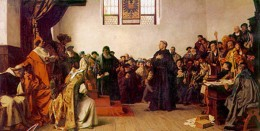 MARTIN LUTHER APPEARS AT THE DIET OF WORMS