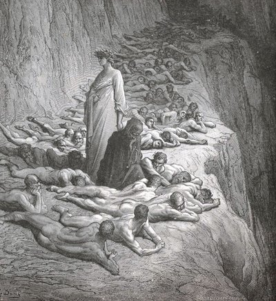 DANTE IN PURGATORY BY GUSTAVE DORE