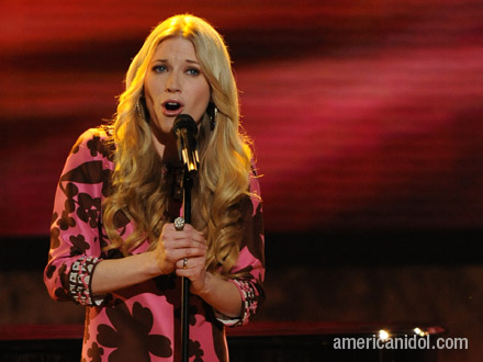 "Brooke White singing ""You've Got A Friend""."