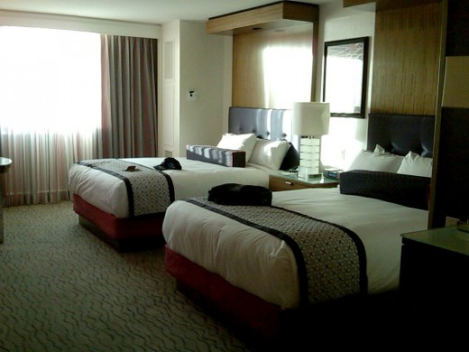 Picture of a room at the Mirage Hotel in Las Vegas Nevada