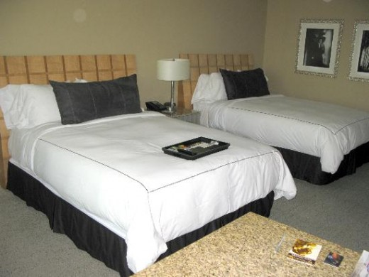 Shown:  Hotel Room at the MGM Grand Casino and Resort in Las Vegas Nevada