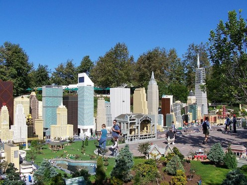 A skyline replica of New York City at Legoland in Carlsbad, California.