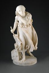 Nydia, The Blind Flower Girl of Pompeii, modeled 1855-56, carved 1858, and touched by a six year old.......... yep, it was me! Sorry dad!