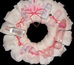 Princess Diaper Wreath