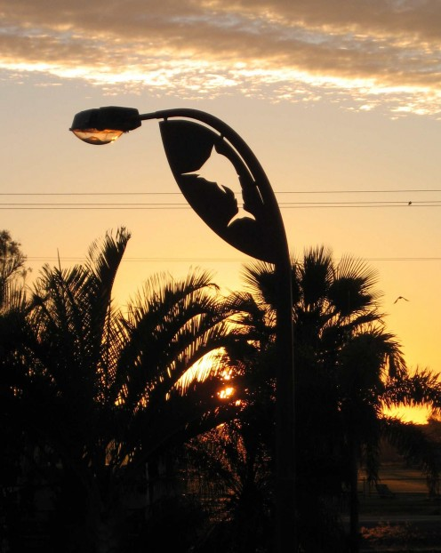 Street Light Art. Exmouth, WA