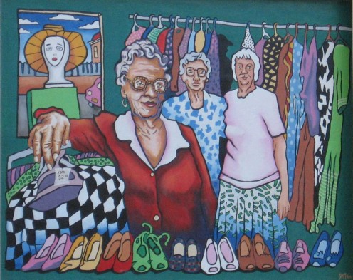 Op Shop Sheilas. Brocken Hill, NSW.