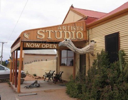 Gallery at Silverton with Tin Camel. Broken Hill, NSW.
