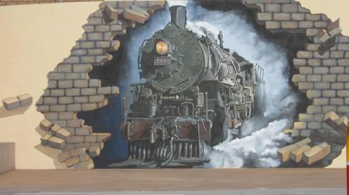 Steam Train. Broken Hill, NSW.