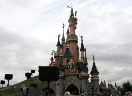 A castle in Disney Land Paris
