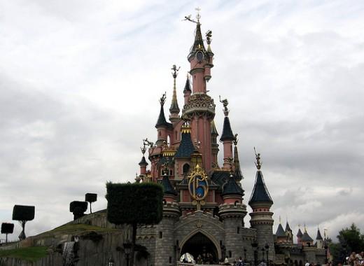 A castle in Disney Land Paris
