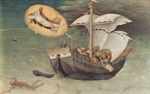 The patron saint of sailors, preserved in the Vatican. Painted 1425.