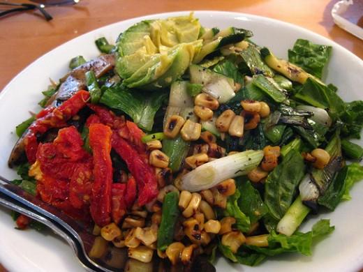 California Pizza Kitchen Copycat Recipes Grilled Veggie Salad