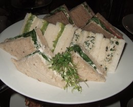 Mint Sauce and feta cheese sandwiches