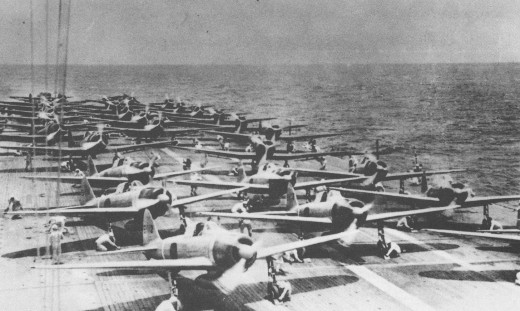 Japan's carrier-based bombers ready to attack Pearl Harbor, 7 December 1941