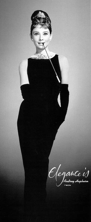 Audrey Hepburn In The Classic Black Sheath Dress