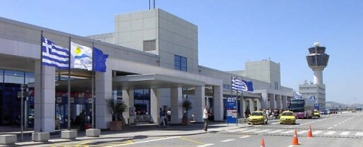 Athens airport.  An easy metro ride (one change) from the cruise port