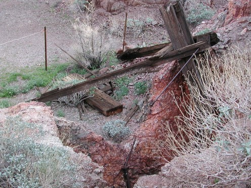Homestakes Mine: Mine shaft in Searchlight NV.