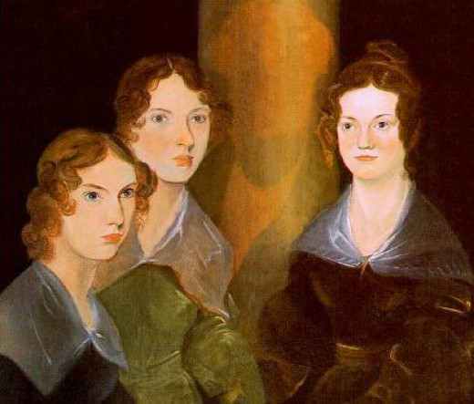 Charlotte, Emily and Anne, painted by their brother Branwell, c1834.