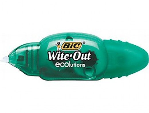 Wite-out Ecolutions, pictured here without the cap on.  This is my favorite.