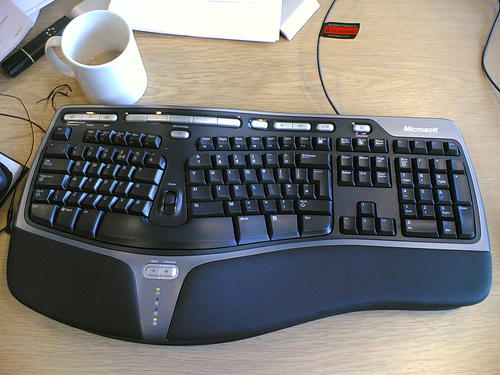 An ergonomic keyboard is one of the best friends to a freelance writer's hands.