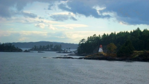 Passing a Lighthouse on BC Ferries