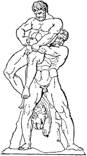 Antaeus was famed in Greek mythology for his tremendous strength.  When lifted away from his Mother Earth, the source of his power, he was weak as water.