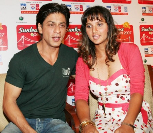 Sania with Bollywood's King Khan SRK