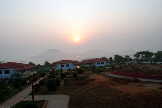 Sunrise view from Panthanivas